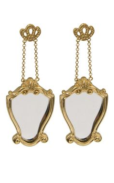 "Delfina Delettrez ""Vanitas"" earrings double as compact mirrors -- we love a good 2-in-1!"