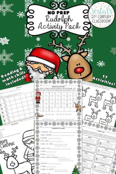With these 17 Rudolph the Red Nosed Reindeer activities, upper elementary students will practice math and ELA skills. #vestals21stcenturyclassroom #rudolphtherednosedreindeer #rudolphtherednosedreindeeractivities #rudolphtherednosedreindeeractivitiesforkids #rudolphtherednosedreindeerworksheets #rudolphtherednosedreindeerprintables