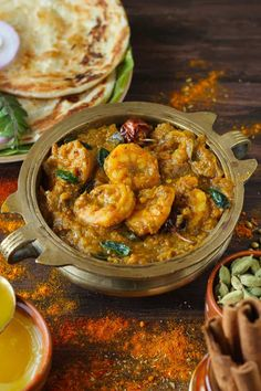 Chettinad Prawn Masala is a finger-licking good South Indian style prawn curry. Learn how to make prawn masala in few simple steps. Fried Shrimp Recipes, Fish Recipes, Lunch Recipes, Recipies, Cooking Recipes, Prawn Masala, Prawn Curry, Fish Curry, Easy Delicious Recipes