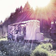 Camping trip with a caravan that has much to offer Caravan, Transportation, Camping, Campsite, Campers, Motorhome, Tent Camping, Rv Camping
