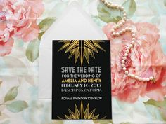 Deco Starburst Art Deco Save the Date  Art Deco by merrymint, $75.00