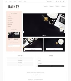 Dainty // An Ecommerce WordPress Theme - Dainty is designed and built to spotlight your work with minimal distractions and supreme flexibility. Don't be fooled by the theme name, this little beauty packs a big punch with loads of extra built in functions and updated features!