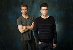 Actors Chris Pine and Zachary Quinto  are Kirk and Spock, respectively in the new movie \Star Trek Into Darkness.\