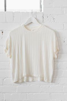 Cream Knit Crop Top