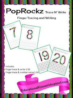 Educational Kismet : PopRockz Trace N' Write {Numbers}