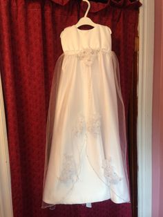 Christening gown made from mom's wedding gown