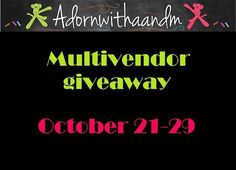 check out this awesome giveaway hosted by Adornwithaandm lots of great sponsers too!