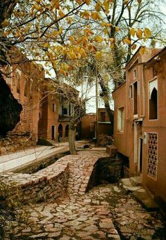 Abyaneh: a village of great antiquity  Being located near the city of Kashan in the Iranian province of Isfahan, Abyaneh is one of the oldest villages in Iran, attracting numerous native and foreign tourists year-round.