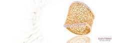 Ring in yellow gold and diamonds from the Diva collection Gold N, Diamond Design, Filigree, Luxury Branding, Diamond Jewelry, Diva, Diamonds, Product Launch, Pure Products