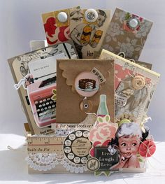 Vintage Gift Set 5 by Danni Reid.  -/inspiration for Recipe Album tags, mats & interactive inserts?