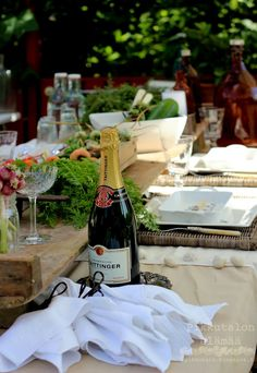 Table setting in our garden!