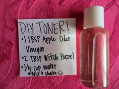 DIY toner. Add some vitamin e oil to make it last longer. Apply with a cotton ball and watch it clean your face and remove all your makeup even after you've already washed your face.