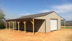Barn living pole quarter with metal buildings 40x60 pole for Garage building estimator