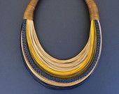 OOAK,Statement Fiber Necklace, Cotton Necklace, African Jewelry, Trending Necklace, Bold Necklace