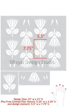 African Protea Flower Allover Stencil