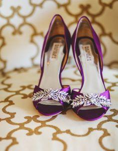 purple wedding #bridal shoes