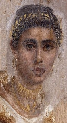 Fayum portraits, British Museum (left) and Metropolitan Museum (LEFT ) MO