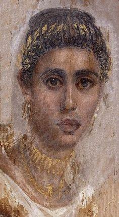 Fayum portraits, British Museum (left) and Metropolitan Museum (LEFT ) MO