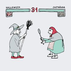 Rastros Ilustrados: Halloween VS Castañada (Which one do you prefer?)