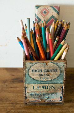 Perfect pencil holder.