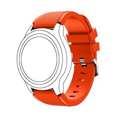 SANNYSIS Sports Silicone Bracelet Strap Band For Samsung Gear S3 Frontier Orange * Read more by visiting the link on the image.