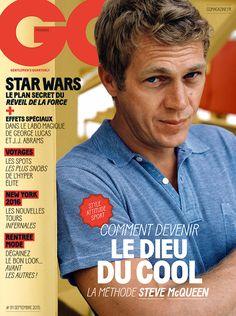 Steve McQueen on the cover of GQ. James Spader, Kevin Spacey, Steeve Mac Queen, Gq Magazine Covers, Cincinnati Kids, Steve Mcqueen Style, Downey Jr, Star Wars, Artists