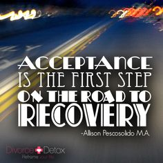 The road to recovery.    www.divorcedetox.com