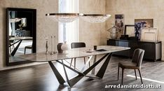 Buy the Skorpio Keramik Dining Table by Cattelan Italia from our designer Tables collection at Chaplins - Showcasing the very best in modern design. Luxury Dining Room, Dining Room Design, Modern Dining Table, Dining Table Chairs, Italian Furniture Brands, Modern Furniture, Design Tisch, Chair Design, House Design