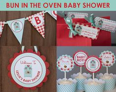 Bun In the Oven Baby Shower Decorations by TangerinePaperShoppe on Etsy, $40.50
