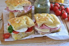 Prosciutto Cotto, Sandwiches, Panini, Chicken, Food, Kitchens, Drinks, Pies, Essen