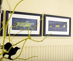 Bug specimen frames - free clip art printed in reverse color.
