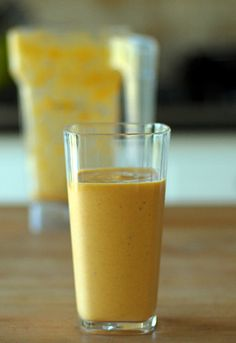Pumpkin Shake: 1 serving vanilla protein powder, 1 cup canned pumpkin,1 cup soy (or almond) milk, 1 banana,1 teaspoon vanilla extract, 2 teapoons honey, pinch of nutmeg