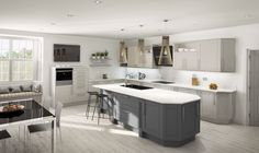 Academy Midsomer Traditional Contemporary Kitchen in Graphite & Pale Grey