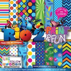 #RIO2 Patterns Digital Paper jungle clip art png red por Printnfun, €3.00 #digitalpaper #candybar #sweettable #mesadedulces #partyideas #partyplanner #events #festa #fiesta #cumpleanos #birthday #invitations #invitaciones #partyprintables