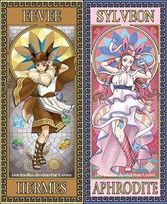 Eevee Pantheon (Pt by norinoko on DeviantArt Pokemon Go, Pokemon Fan Art, Cute Pokemon, Pikachu, Umbreon And Espeon, Pokemon Eevee Evolutions, Digimon, Pokemon Human Form, Pokemon Cosplay