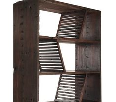 Bookcase Made From Reclaimed Wood From A Chinese Riverboat!