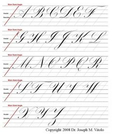 copperplate guidelines by enid