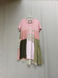A personal favorite from my Etsy shop https://www.etsy.com/listing/467050060/pink-shabby-chic-dress-upcycled