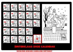 Shoe calendar Sint 5 dec