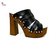 CAFèNOIR  NB103 - 010 NERO, Escarpins femme - Noir - Nero, 36 EU - Chaussures caf noir (*Partner-Link)