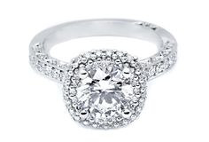 HT2522RD - Double Halo Engagement Ring - Tacori