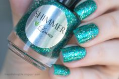Shimmer Polish Linna over Colors by Llarowe Ocean Water