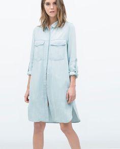 a988dc94b34 Image 1 of LONG DENIM SHIRT from Zara Zara Shirt