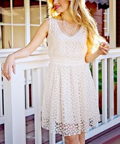 Look at this Natural Butterfly Dress on #zulily today!