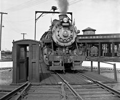 B&O, Dayton, Ohio, 1955 Baltimore and Ohio Railroad steam locomotive no. 4604 at shop in Dayton, Ohio, in August 1955. Photograph by…