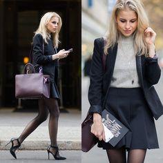 Caro Daur - Topshop Shoes, Aigner Bag, Topshop Skirt, Asos Blazer, Asos Sweater - Businesslook