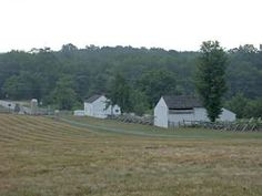Widow Lydia Leister's farm, which was used by General George G. Meade as his headquarters, behind Cemetery Ridge on the Taneytown Road.