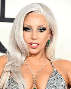 To balance Lady Gaga's metallic smoky eye, celeb makeup artist Sarah Tanno relied on Shiseido Smoothing Lip Pencil in Hazel and Shiseido Lacquer Rouge in Carnelian (Gaga's favorite!).