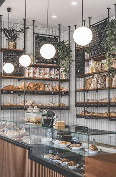 Star Bakery - Picture galleryYou can find Bakery design and more on our website. Coffee Shop Interior Design, Interior Design Minimalist, Coffee Shop Design, Coffee Shop Interiors, Cafe Interiors, Brewery Interior, Restaurant Interior Design, Bakery Shop Interior, Cozy Cafe Interior