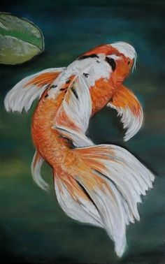 "Daily Paintworks - ""Koi"" - Original Fine Art for Sale - © Charlotte Yealey"